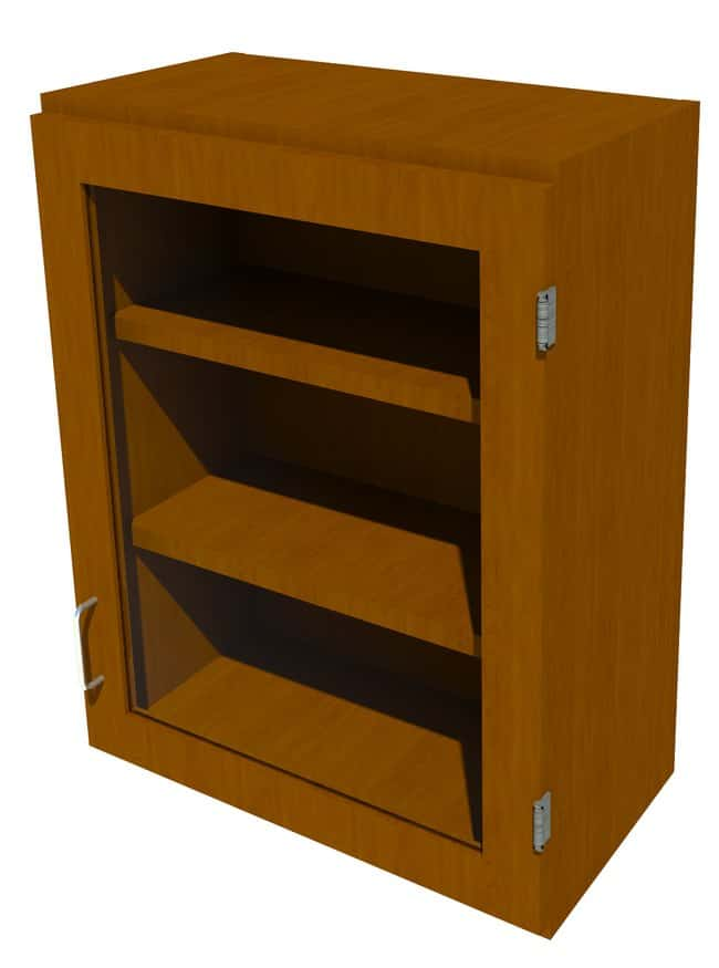 FisherbrandWood Wall Cabinet, 24 in. Wide 1 Framed Glass Door Right Hinged,