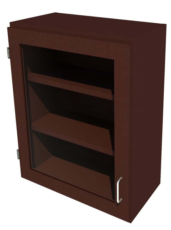 FisherbrandWood Wall Cabinet, 24 in. Wide 1 Framed Glass Door Left Hinged,