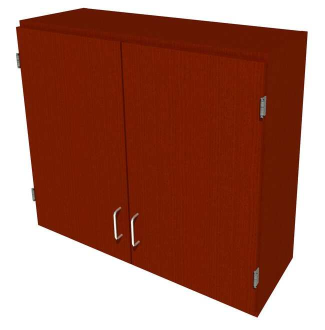 FisherbrandWood Wall Cabinet, 36 in. Wide 2 Solid Doors, 36 in. Wide, Oak,