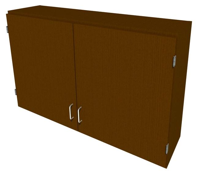 FisherbrandWood Wall Cabinet, 48 in. Wide 2 Solid Doors, 48 in. Wide, Oak,