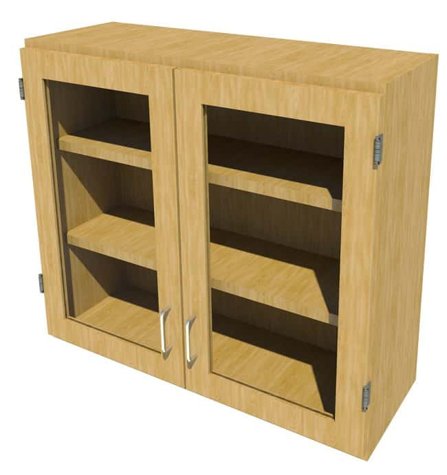Fisherbrand Wood Wall Cabinet, 36 in. Wide:Furniture, Storage, Casework,