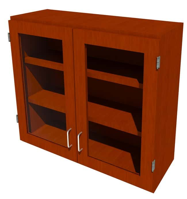 FisherbrandWood Wall Cabinet, 36 in. Wide 2 Framed Glass Doors, 36 in.