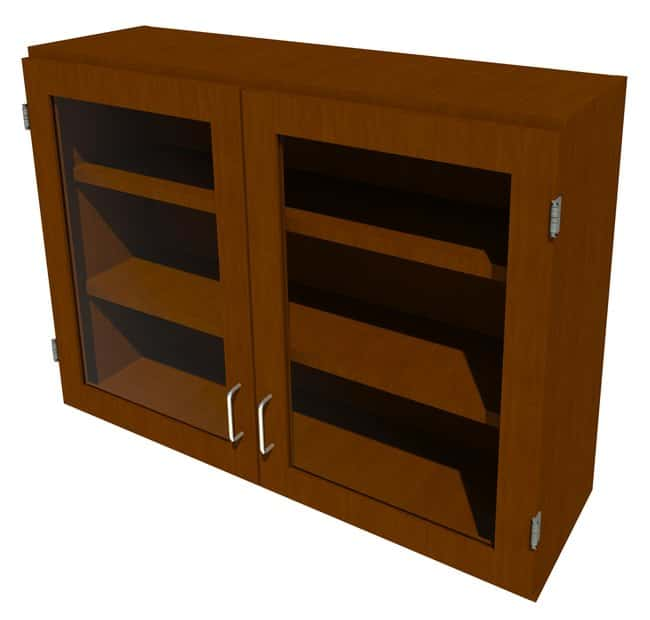 FisherbrandWood Wall Cabinet, 42 in. Wide 2 Framed Glass Doors, 42 in.