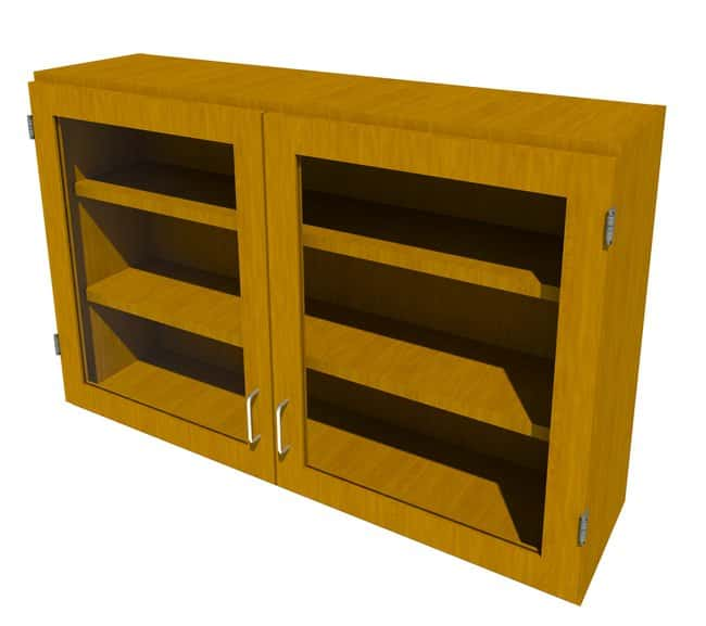 FisherbrandWood Wall Cabinet, 48 in. Wide 2 Framed Glass Doors, 48 in.