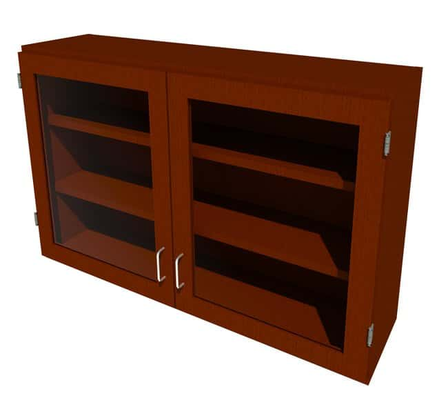 Fisherbrand Wood Wall Cabinet, 48 in. Wide 2 Framed Glass Doors, 48 in.
