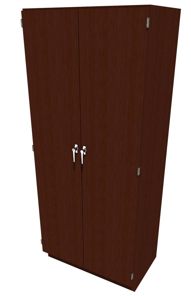 FisherbrandWood Tall Cabinet, 36 in. Wide 2 Solid Doors, 36 in. Wide, Maple,