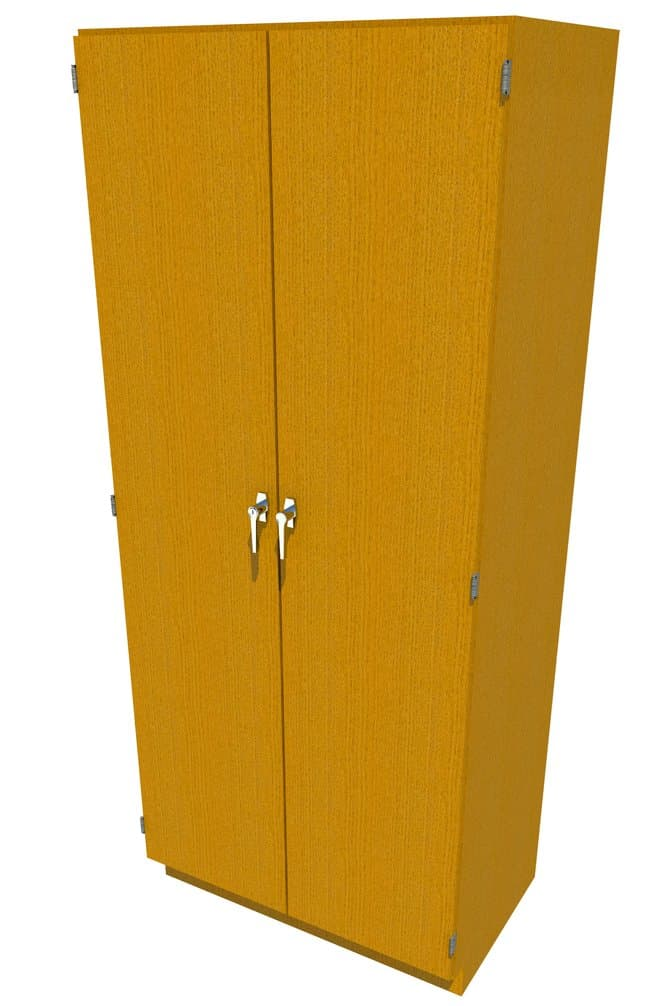 FisherbrandWood Tall Cabinet, 36 in. Wide 2 Solid Doors, 36 in. Wide, Oak,