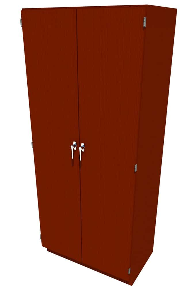 Fisherbrand Wood Tall Cabinet, 36 in. Wide 2 Solid Doors, 36 in. Wide,