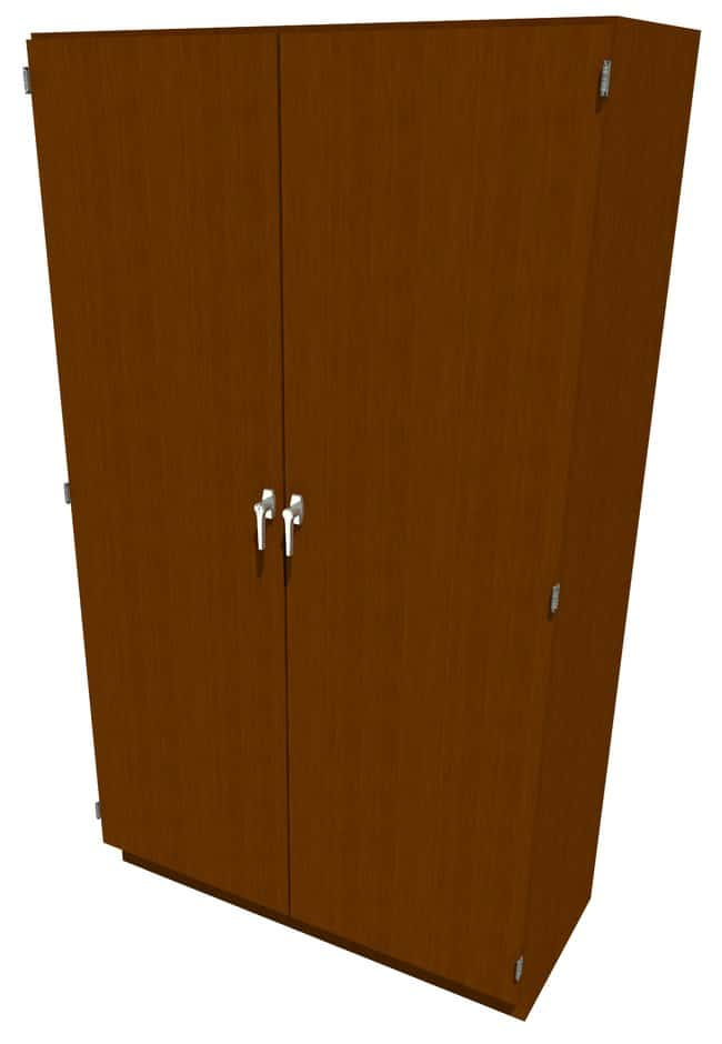 FisherbrandWood Tall Cabinet, 48 in. Wide 2 Solid Doors, 48 in. Wide, Maple,