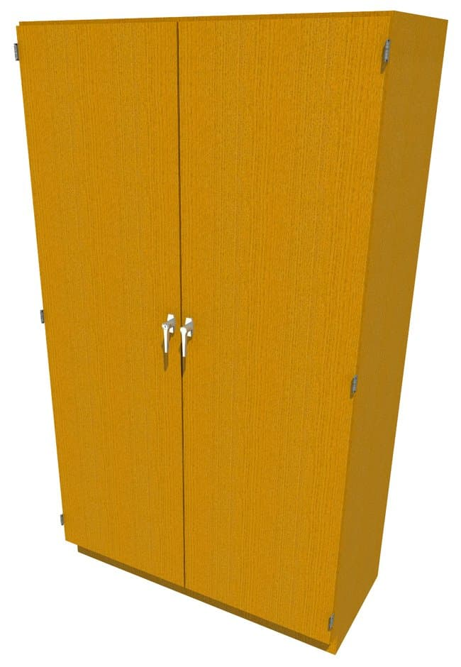 FisherbrandWood Tall Cabinet, 48 in. Wide 2 Solid Doors, 48 in. Wide, Oak,
