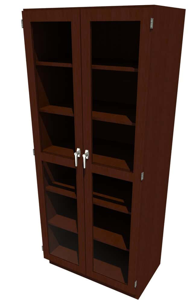 FisherbrandWood Tall Cabinet, 36 in. Wide 2 Framed Glass Doors, 36 in.