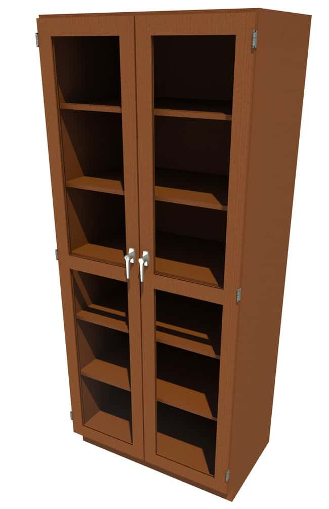 Fisherbrand Wood Tall Cabinet, 36 in. Wide 2 Framed Glass Doors, 36 in.