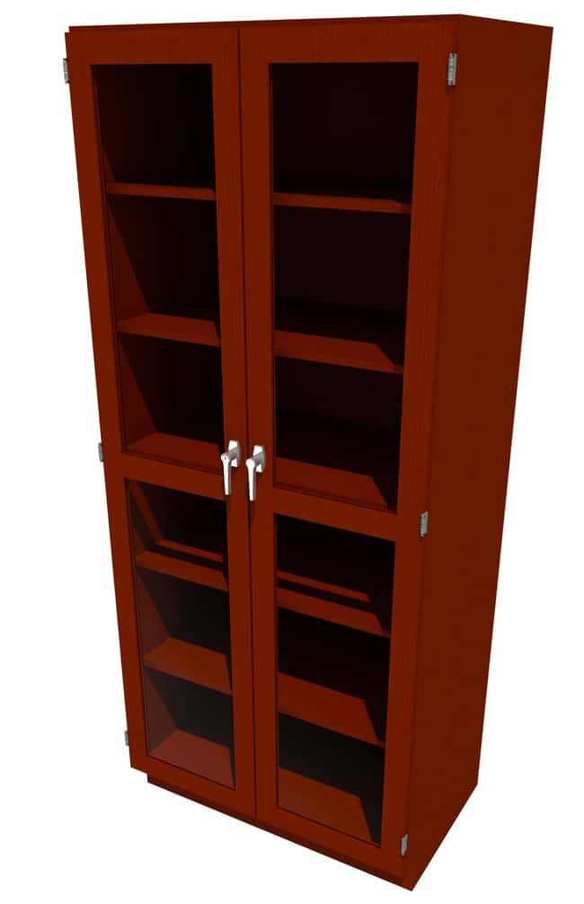 FisherbrandWood Tall Cabinet, 36 in. Wide 2 Framed Glass Doors, 36 in.