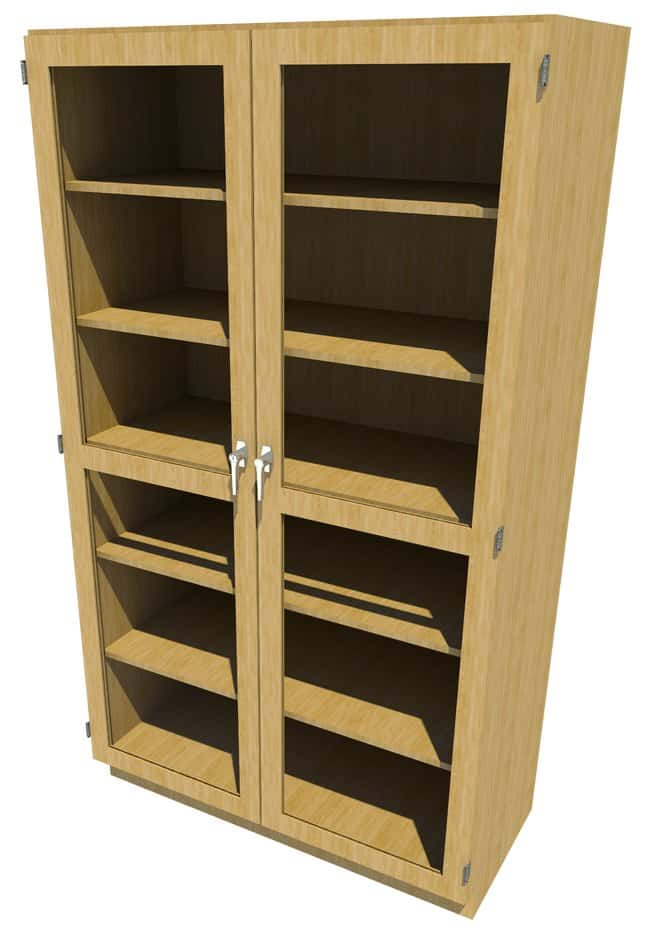 FisherbrandWood Tall Cabinet, 48 in. Wide 2 Framed Glass Doors, 48 in.