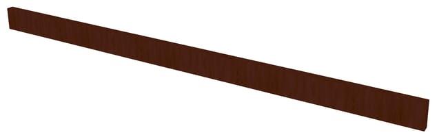 Fisherbrand Wood Apron Face Rail, 48 in. Wide 48 in. Wide, Maple, Mocha