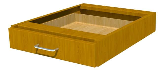 Fisherbrand Wood Suspended Pencil Drawer 18 in. Wide, Maple, Honey Stain:Furniture,