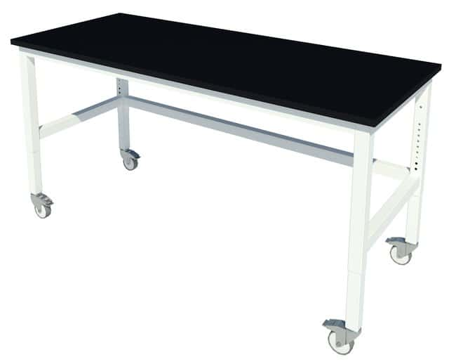 Fisherbrand Adjustable Height Basic Work Bench with Locking Swivel Casters:Furniture,