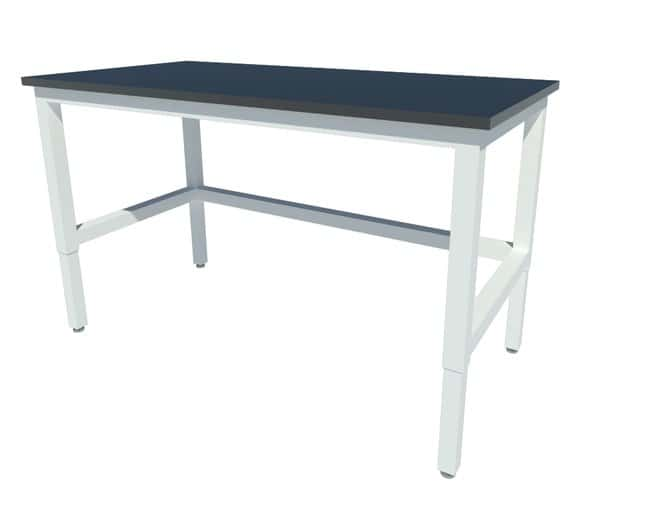 Fisherbrand™ Adjustable Height Heavy Duty Steel Table with Leveling Glides, Phenolic Work Surface