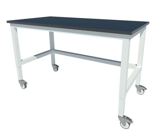 Fisherbrand Adjustable Height Heavy Duty Steel Table with Locking Swivel