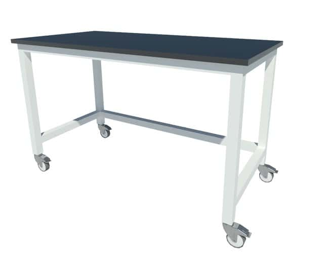 Fisherbrand Fixed Height Heavy Duty Steel Table with Locking Swivel Casters,
