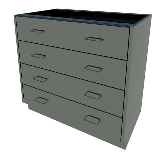 Fisherbrand Standing Height Stainless Steel Cabinet  4 Drawer, 36 in. Wide:Furniture,