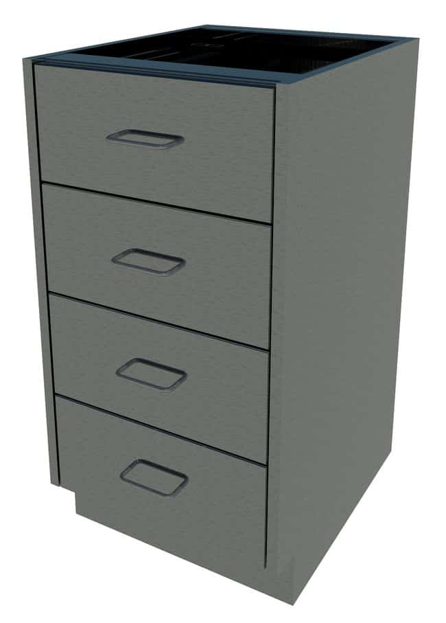 Fisherbrand Standing Height Stainless Steel Cabinet 4 Drawer, 18 in. Wide:Furniture,