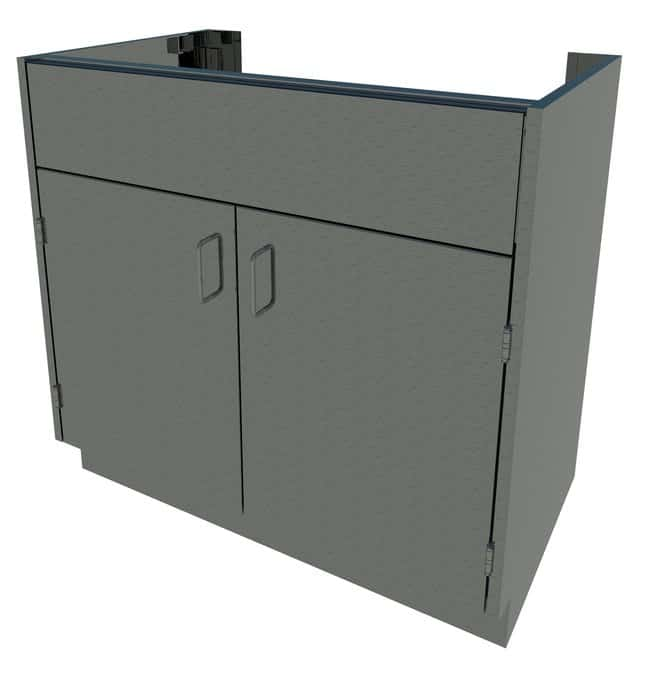 Fisherbrand Standing Height Stainless Steel Sink Cabinet 2 Door, Sink Cabinet,