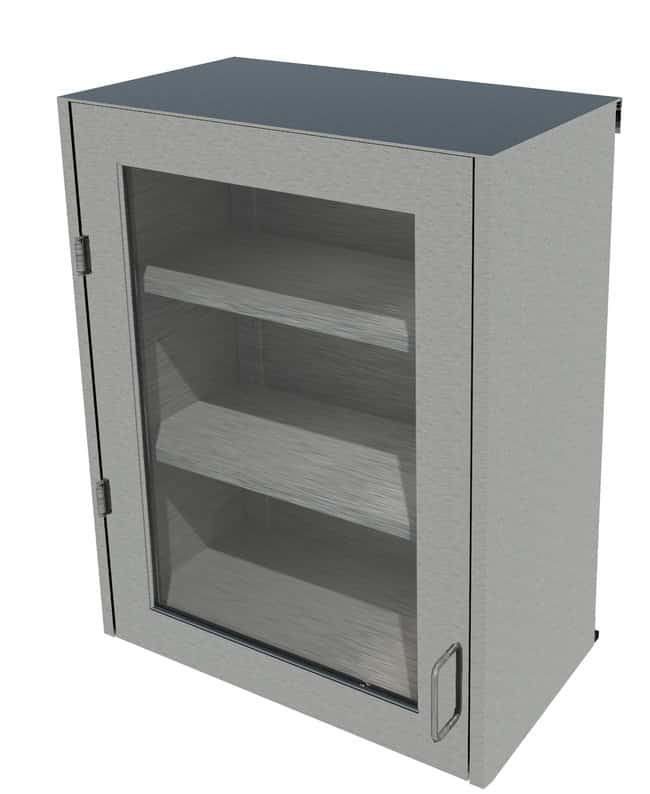 Fisherbrand Stainless Steel Wall Cabinet, Left Hinged Framed Glass Door,
