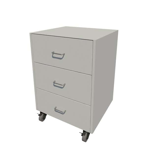Fisherbrand Steel Mobile Cabinet 3 Drawer, 24 in. Wide:Furniture, Storage,