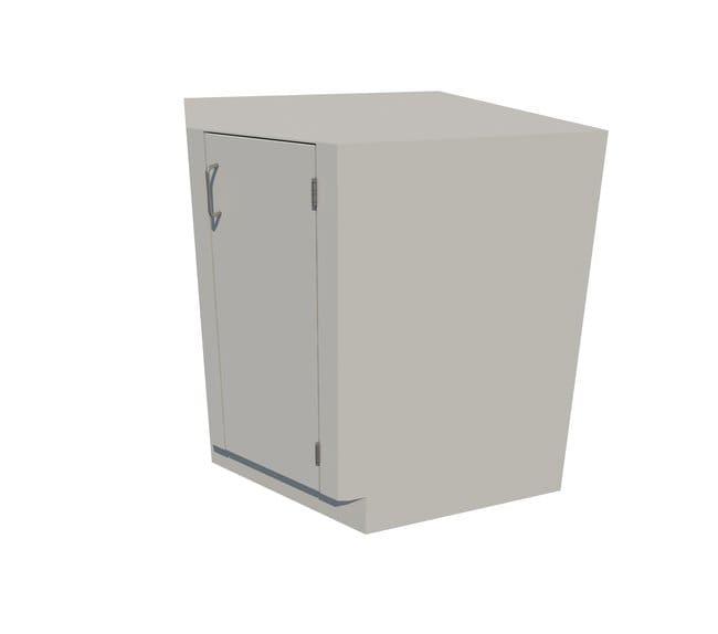 Fisherbrand Standing Height Steel Corner Cabinet 1 Door Corner Cabinet,