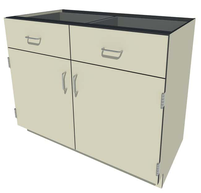 Fisherbrand Phenolic Standing Height Cabinet 2 Door 2 Drawer, 42 in. Wide,