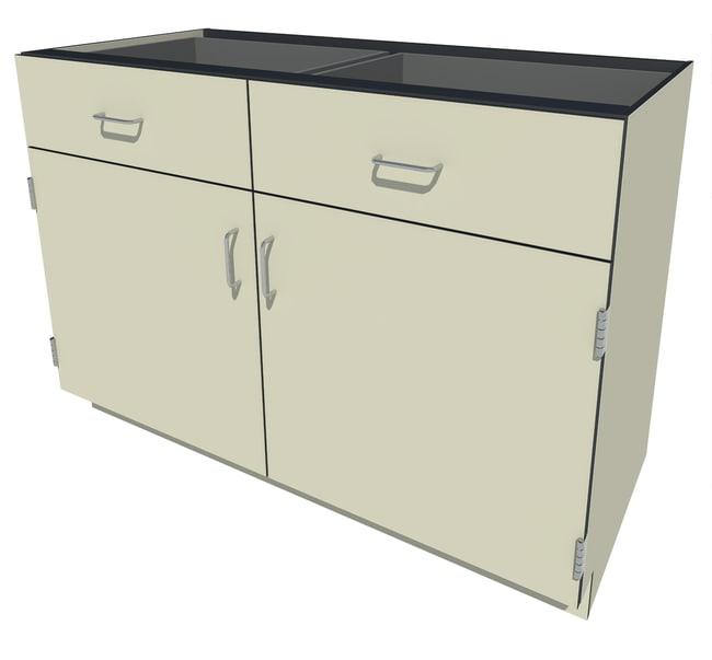 Fisherbrand Phenolic Standing Height Cabinet 2 Door 2 Drawer, 48 in. Wide,