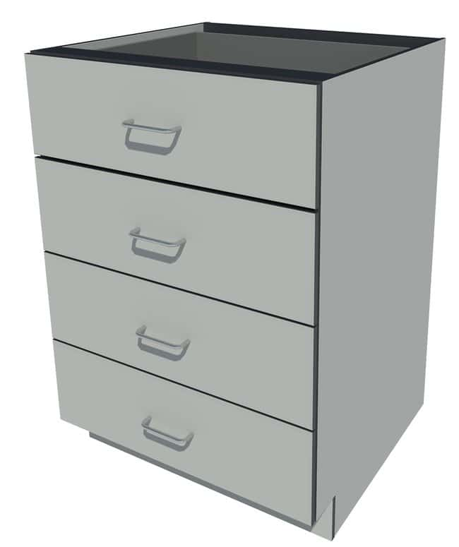 Fisherbrand Phenolic Standing Height Cabinet 4 drawer, 24 in. Wide, Platinum:Furniture,