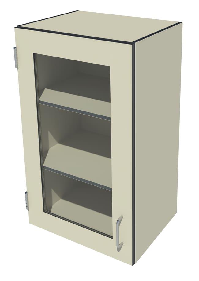 Fisherbrand Phenolic Wall Cabinet, Left Hinged 1 Framed Glass Door, Left