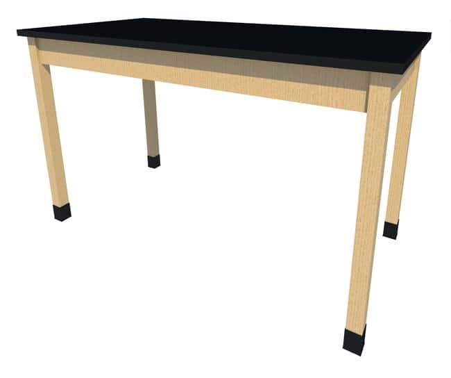 Fisherbrand Sitting Height Wood Fixed Height Table, 60 in. Wide, Black