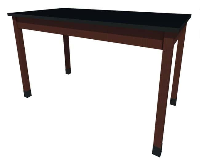 Fisherbrand Sitting Height Wood Fixed Height Table, 72 in. Wide, Black