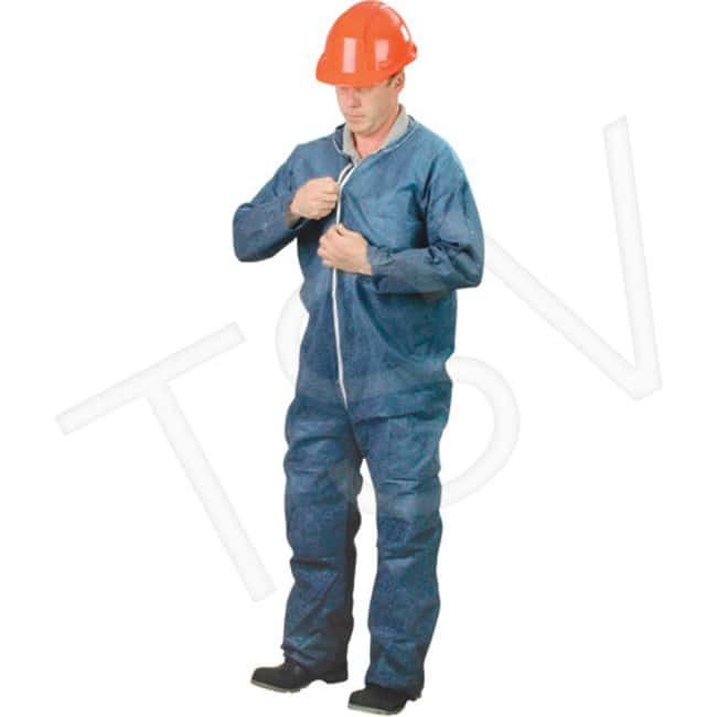 Lakeland Industries Polypropylene Coveralls With Zipper Navy blue; Large:Gloves,