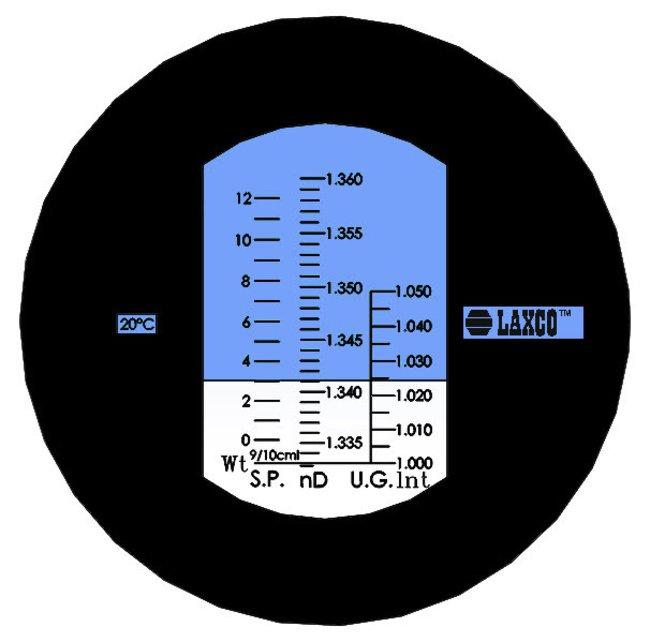 Laxco™Handheld Lighted Analog Salinity Refractometer