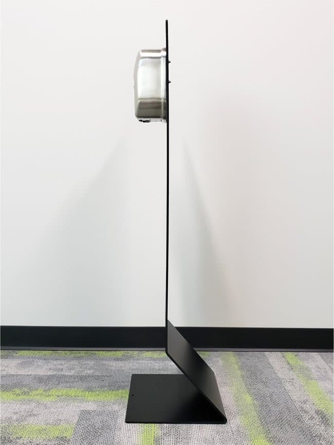 Lime Media Hand Sanitizer Floor Stand with Touchless Dispenser:Wipes, Towels