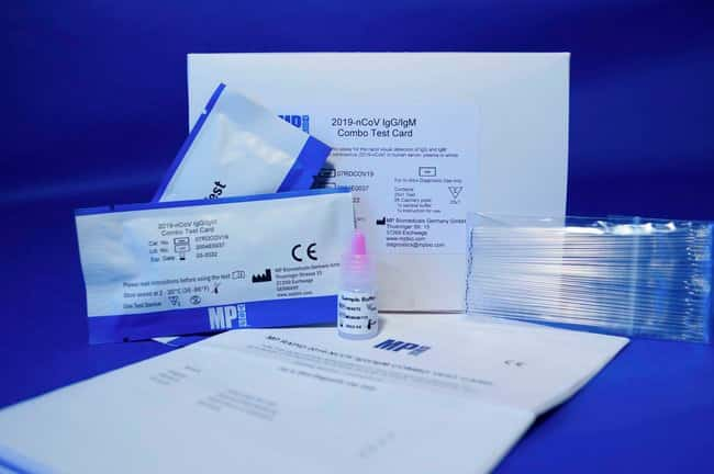 MP Biomedical™ Rapid 2019-nCoV IgG/IgM Combo Diagnostic Test Cards to COVID-19 25 Tests Respiratory Viral Testing