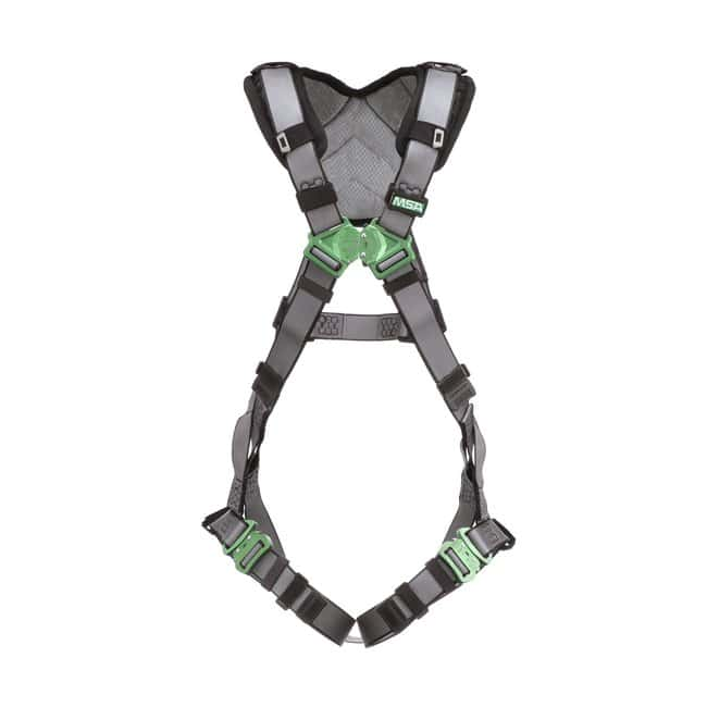 MSA V-FIT Safety Harness - Back D-Ring, Quick-Connect Leg Straps, Shoulder