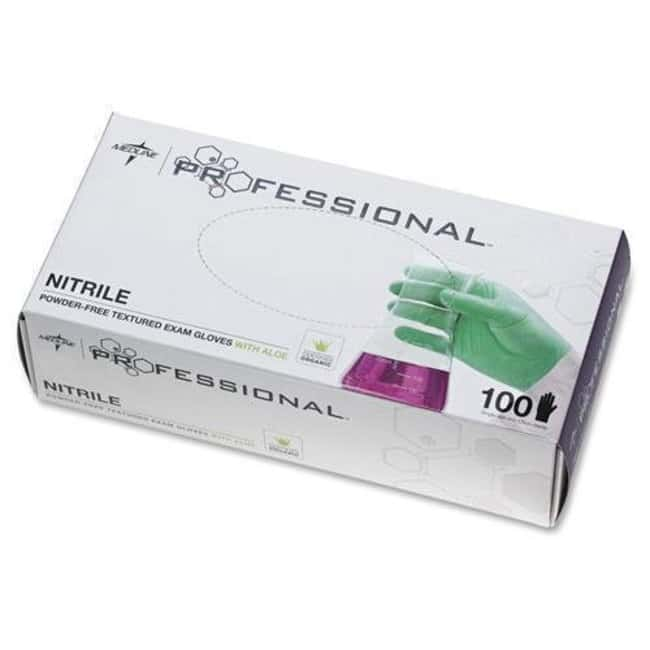 Medline Professional Nitrile Gloves Size: X-Large:Gloves, Glasses and Safety