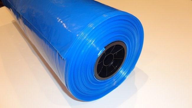 Micronova™Sachets BinLiner irradiés BinLiner bleu irradié, doublures à soufflet de 3 mm sur un rouleau à double emballage, 40 x 60 po Micronova™Sachets BinLiner irradiés