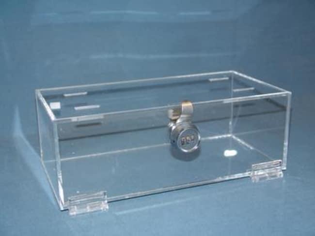 Mitchell PlasticsRefrigerator Storage Box with Lock Clear; 4.25 x 12 x