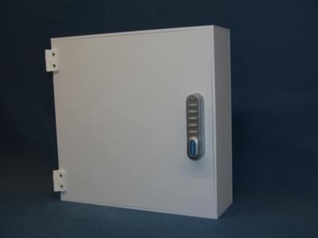 Mitchell Plastics Refrigerator Storage Box with Lock White; 9.25 x 9.5