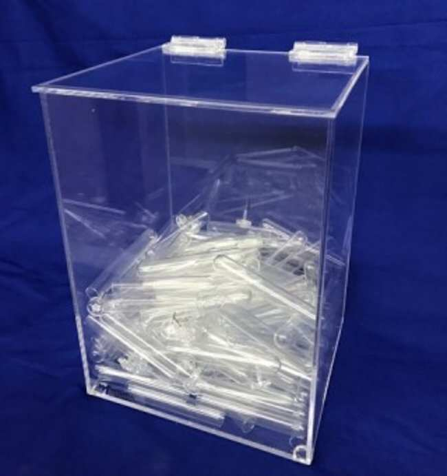 Mitchell Plastics Heavy Duty Bulk Dispenser Color: Clear:Gloves, Glasses