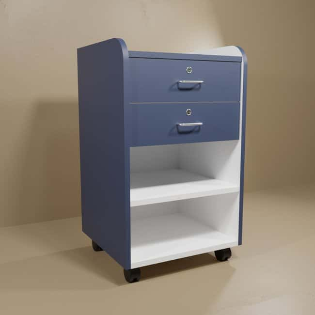 Mitchell Plastics Phlebotomy Mobile Supply Cabinets Blue cabinet w/blue