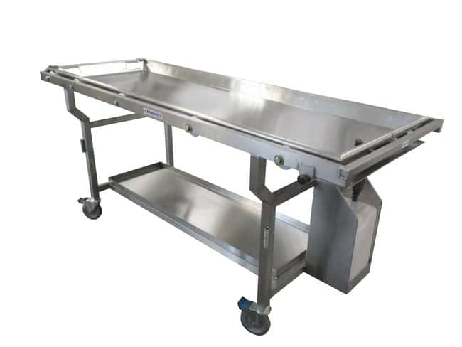 Mopec Roller Autopsy Cart with Fluid Collection System and Tray  WidthMetric: