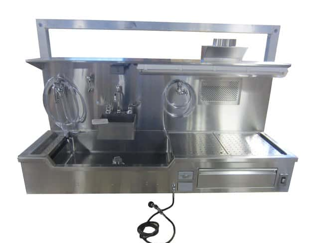 Mopec Left Hand Approach Elevating Wall Mount Autopsy Sink  WidthMetricOverall: