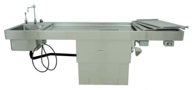 Mopec Pedestal Style Autopsy Table with Elevating and Bariatric Options